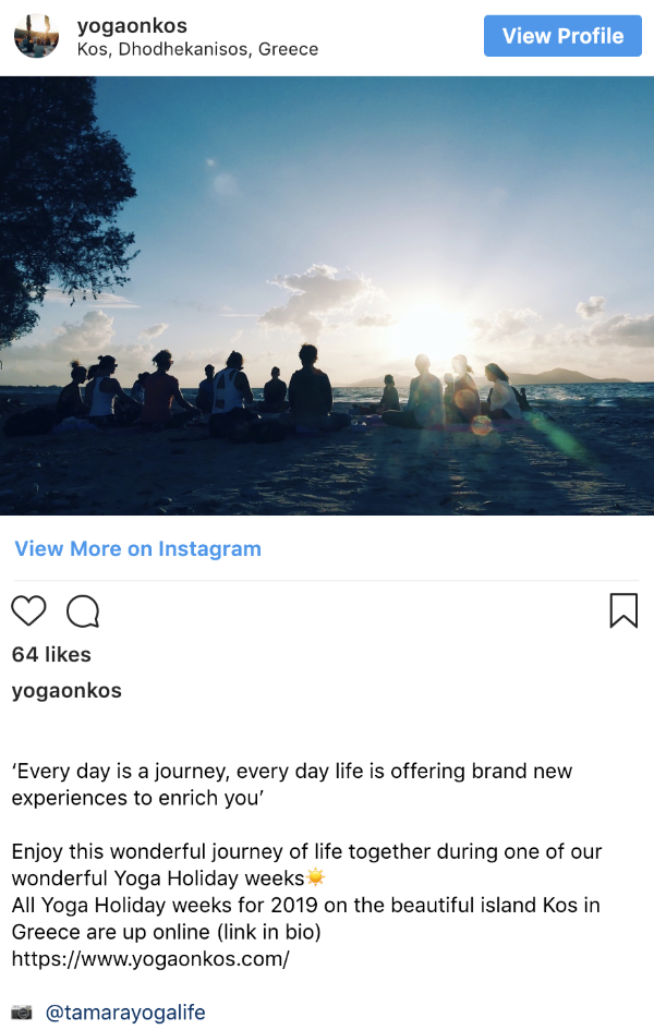 Instagram Yoga on Kos